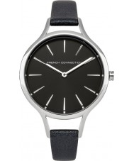 French Connection FC1253B Ladies Pearlised Black Leather Strap Watch