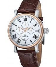 Thomas Earnshaw ES-8031-03 Mens Maskelyne Brown Croco Leather Strap Watch