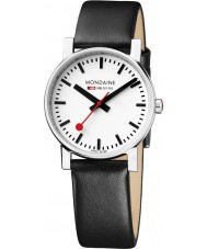 Mondaine A658-30300-11SBB Evo Black Leather Strap Watch