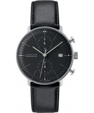 Junghans 027-4601-00 Max Bill Black Chronoscope Automatic Watch