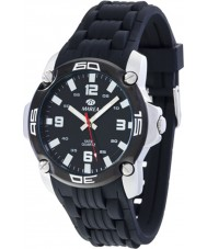 Marea 42145-1 Mens Fashion Black Silicone Strap Watch