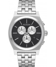 Nixon A972-2348 Mens Time Teller Silver Steel Chrono Watch
