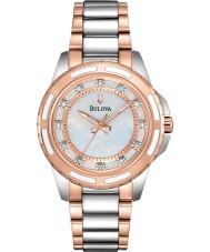 Bulova 98S134 Ladies Diamond Two Tone Steel Bracelet Watch