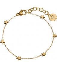 Edblad 216130030 Ladies Star Mini Multi Gold Bracelet