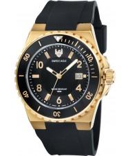 Swiss Eagle SE-9039-03 Mens Dive Response Black Silicone Strap Watch