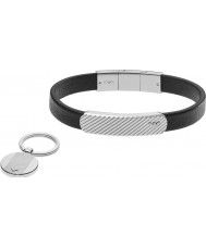 Emporio Armani EGS2389040 Mens Bracelet and Key Ring Gift Set