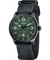 AVI-8 AV-4021-05 Mens Flyboy Automatic Black Leather Strap Watch