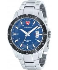Swiss Eagle SE-9032-33 Mens Field Battalion Silver Steel Bracelet Watch