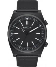 Nixon A1178-001 Mens Brigade Leather Watch