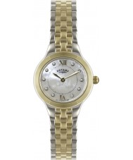 Rotary LB02761-41 Ladies Timepieces Silver and Gold Watch