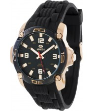 Marea 42145-2 Mens Fashion Black Silicone Strap Watch