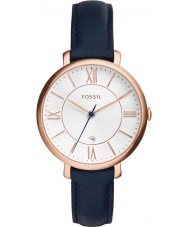 Fossil ES3843 Ladies Jacqueline Blue Leather Strap Watch