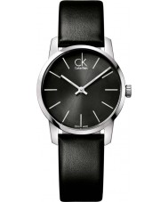 Calvin Klein K2G23107 Ladies City Black Leather Strap Watch