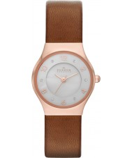 Skagen SKW2210 Ladies Grenen Brown Leather Strap Watch