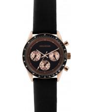 Zadig and Voltaire ZVM114 Master Black Leather Chronograph Watch