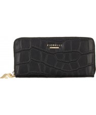Fiorelli FS0866-BLACKCROC Ladies City Black Croc Zip Around Purse