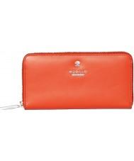 Modalu MS6321-ORANGE Ladies Pippa Orange Zip Around Purse