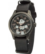 Disney by Ingersoll DIN008BKBK Mens Classic Mickey Mouse Black Nylon Strap Watch