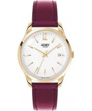 Henry London HL39-S-0064 Ladies Holborn White Burgundy Watch
