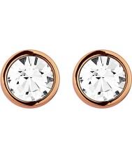 Dyrberg Kern 334803 Ladies Noble Rose Gold Crystal Earrings