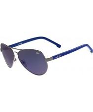 Lacoste Mens L163S Silver Blue Sunglasses
