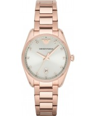 Emporio Armani AR6065 Ladies Classic Beige Rose Gold Watch