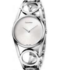 Calvin Klein K5U2M146 Ladies Round Silver Steel Bracelet Watch