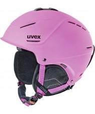 Uvex 5661539105 P1us Matte Pink Ski Helmet - 55-59cm
