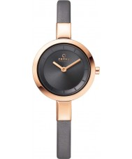 Obaku V129LXVJRJ Ladies Grey Calf Leather Strap Watch