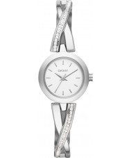 DKNY NY2173 Ladies Crosswalk Silver Stone Set Watch