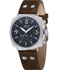 AVI-8 AV-4022-01 Mens Lancaster Bomber Brown Leather Strap Chronograph Watch