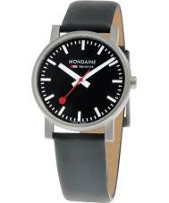 Mondaine A658-30300-14SBB Evo Black Leather Strap Watch