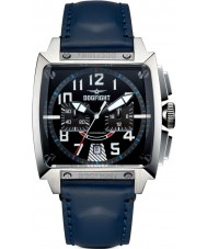 Dogfight DF0003 Mens Experten Blue Leather Chronograph Watch