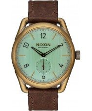 Nixon A459-2223 Mens C39 Brass Brown Horween Leather Watch