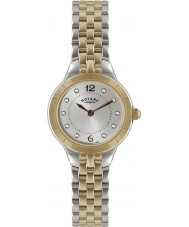 Rotary LB02762-59 Ladies Timepieces Silver and Rose Gold Watch