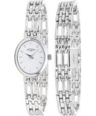 Rotary LB20061-BR-02 Ladies Precious Metals Sterling Silver Watch With Matching Bracelet