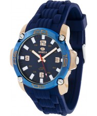Marea 42145-3 Mens Fashion Navy Silicone Strap Watch