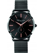 Thomas Sabo WA0271-202-203-42mm Mens Rebel Spirit Black Steel Mesh Bracelet Watch