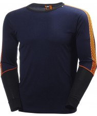 Helly Hansen Mens Dry Performance Crew Blue Baselayer