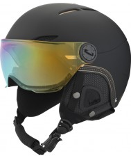 Bolle 31161 Juliet Visor Soft Black and Gold Ski Helmet with Gold and Lemon Visor - 52-54cm