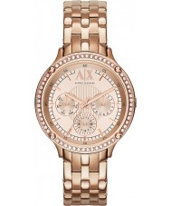 Armani Exchange AX5406 Ladies Rose Gold Plated Bracelet Dress Watch