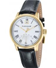 Thomas Earnshaw ES-8033-03 Mens Cornwall Black Croco Leather Strap Watch