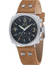 AVI-8 AV-4022-02 Mens Lancaster Bomber Beige Leather Strap Chronograph Watch