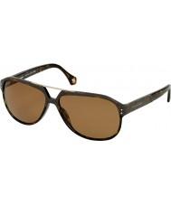 Zegna Mens SZ3654M-722P Dark Tortoiseshell Sunglasses