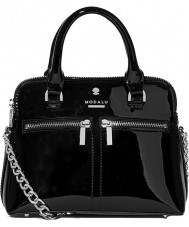 Modalu MH6208-BLACKPATENT Ladies Pippa Bag
