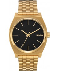 Nixon A045-2042 Mens Time Teller Gold Plated Bracelet Watch