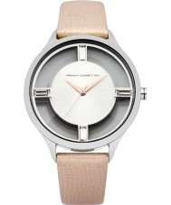 French Connection FC1233C Ladies Cream Metallic Leather Strap Watch