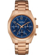Caravelle New York 44L199 Ladies Melissa Rose Gold Chronograph Watch