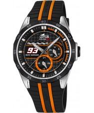 Lotus L18259-1 Mens Marc Marquez Black Rubber Strap Watch
