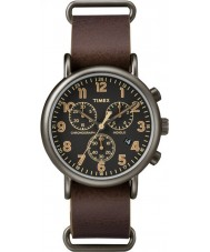 Timex TW2P85400 Weekender Brown Leather Chronograph Watch